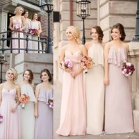 2016 New Country Style Long Bridesmaid Dresses Summer Chiffo...