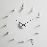 Original 3D Clock Swallow Clock modern design white wall clo...