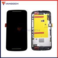 Pour Motorola Moto G2 XT1063 XT1064 XT1068 LCD écran tactile Digitizer Assemblée avec cadre Livraison gratuite