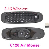 C120 2.4Ghz Wireless Keyboard Gyroscope Télécommande T10 MINI Fly Air Mouse clavier QWERTY souris Pour 20pcs Android TV Box Mini PC