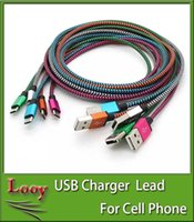 1M 3FT Tressé Cuivre Micro USB Cord Chargeur Câble de synchronisation de données pour samsung galaxy s4 s5 S6 Edge à tout téléphone portable