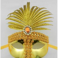 2016 New gold banana diamond chain princess party mask