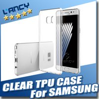 TPU cases Pour Samsung J5 / galaxie transparente Crystal Clear gel doux Silicon ultra mince pour Samsung Galaxy S7 S6 note5