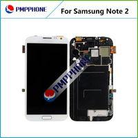 LCD pour Samsung Galaxy Note 2 II N7100 N7102 N7108 N719 N7105 L900 i605 LCD Digitizer écran d'affichage tactile avec l'Assemblée Frame