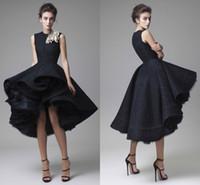 Krikor Jabotian Lace Short Prom Dresses 2016 Jewel Neck Hand...