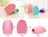 Яйцо Очистка перчатки MakeUp Щетка для мытья скруббер Board Cosmetic Brushegg Косметические кисти Egg 7colors brushegg 2016 Новый