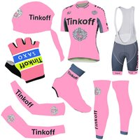 New Arrival Pink Tinkoff Cycling Jerseys Short Sleeve With P...