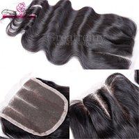 "3 Way Part Top Lace Closure 4"" x4"" Malaysian Hair C..."