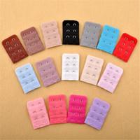 DHL livre Estender senhoras fivela 2Hooks 3 linhas sutiã Extender Gancho Grampo Nude cinto ajustável Buckle Multi Color disponíveis 0063
