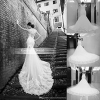 Real Image 2016 Vintage Lace Appliques Mermaid Wedding Dress...