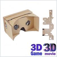 Bricolage Google Cardboard Téléphone mobile Réalité virtuelle Lunettes 3D Carton non officiel Google Cardboard VR Toolkit lunettes 3D CCA1785 MQ100