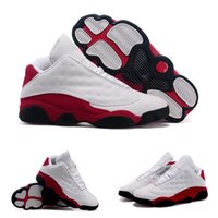 (With shoes Box) Hot Sale Retro 13 XIII Low White Black- Var ...