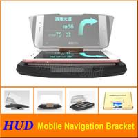 Affichage de la tête de voiture HUD pour le téléphone de voiture Réflecteur de verre de navigation de GPS Support de support de téléphone portable avec le paquet de vente au détail Livraison gratuite
