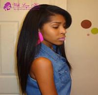 With love hair free ship Peruvian hair human hair wigs strai...