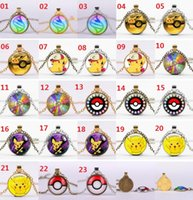Poke Ball Pendant Necklaces Antique Bronze Poket Monster Pen...