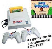 D31 jeu vidéo 8 bits systen TV carte jaune Joueur de jeu à double poignée avec carte 400in1 gratuite
