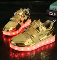 2016 hot sell LED Shoes New Fashion Children USB Charging LE...