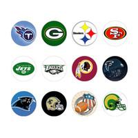 48pcs lot Team logo glass snap button jewelry luxurious allo...