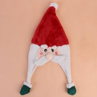Christmas Santa Claus Cap Adult Child Red Christmas Hats Plu...