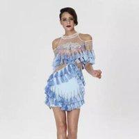 Newest Fashion 2016 Runway long sleeve white gauze luxury pe...