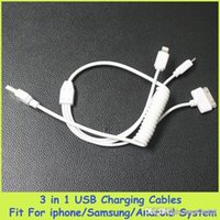 Universal Cell Phone Cable USB Car Charger 3 in 1 Flexible U...