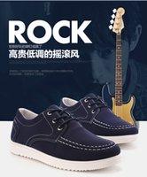 2016 Blue Men Casual Sports Shoes Oxfords America Korean Lea...