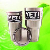 Горячие Продажа YETI Рамблер Кубок 30 унций 20 унций 12 унций YETI Чашки Автомобили Пивная кружка большой емкости Mug DHL освобождает полный стакан доставка