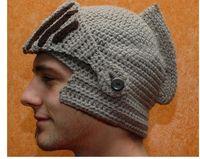2016 Novelty New Roman Knight Helmet Caps Cool Handmade Knit...