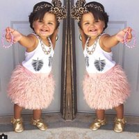 2016 Spring cute baby girls skirt INS hotsale pink color pri...