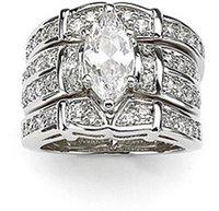 victoria wieck deluxe lovers topaz diamonique 14kt white gold filled 3 wedding ring set sz 5 11 free shipping gift - Diamonique Wedding Rings