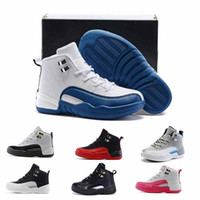 Kids Retro 12 Shoes Children Basketball Shoes Boys Girls OVO...