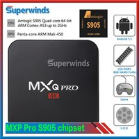 MXQ Pro Android TV Box Amlogic S905 Chipset Kodi 16.1 Plein Loaded Android 5.1 Lollipop OS Quad Core 1G / 8G 4K Google Streaming Media joueur A