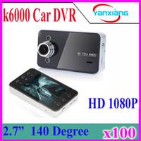 100pcsCheap K6000 Car DVR Recorder Black Box complet Caméras HD Camcorder 2.7