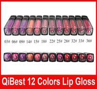 QiBest Водонепроницаемый Помада Блеск для губ Long Lasting Lip Gloss QiBest макияж губы 12 цветов блесков для губ антипригарным Кубок Помада Горячие