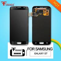 pour Samsung Galaxy S7 écran LCD tactile Digitizer Assemblée G930F G930FD G930A G930P G930 G930V G930T 100% Testé DHL navire