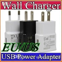EU US Wall Charger Power Plug pour Samsung Galaxy S4 i9500 S3 i9300 Note2 N7100 2 en 1 noir blanc couleur E-SC