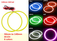 6 colors cob led angle eye ring from 50mm to 140mm Car Truck...