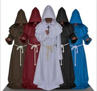 Monk Hooded Robes Cloak Cape Friar Medieval Renaissance Prie...