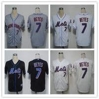Best Stitched NY Mets #7 Jose Reyes 5 David Wright #34 Noah ...