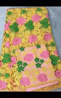 5 Yards pc Fashion three color flower pattern water soluble ...