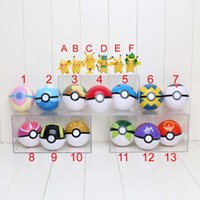 3pcs Pokeball + 3pcs Pikachu Figures New Pokeball Master Gre...