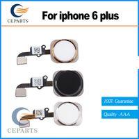 100% Nouveau Bouton Accueil Original Flex Ruban Câble Touch ID Capteur Assemblage Pour iPhone 6 Et 6 Plus 5.5 Or / Argent / Noir
