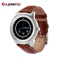 Meilleures ventes Lemfo LEM1 Smart Watch Full HD IPS écran bluetooth SmartWatch Fitness Tracker App Pour iphone IOS Téléphone Android