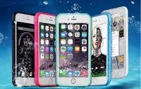 Случаи противоударный телефон пыле водолазных водонепроницаемые чехлы Чехол ТПУ + PC для Iphone 5S 6 6S Плюс водонепроницаемый корпус Shell Открытый чехол