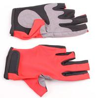 Перчатки для рыбалки Наружные перчатки Водонепроницаемые Предотвращают скользкие перчатки Воздухопроницаемые износостойкие 5 Пальцы с низким вырезом Рыболовные перчатки Рыболовные принадлежности