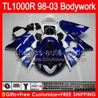 Factory blue 8gifts For SUZUKI TL1000R 98 99 00 01 02 03 TL-...