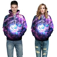Fashion Sweatshirts 3D Galaxy Print Hoodies Long Sleeve Jump...