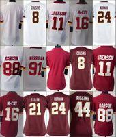 Women Ladies Football Blank #8 Cousins #11 Jackson #16 McCoy...