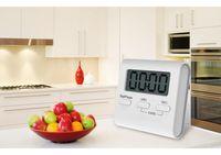 Новое поступление ЖК-дисплей Таймер цифровой кухня большой отсчет вверх вниз таймер для приготовления пищи отсчет времени будильника