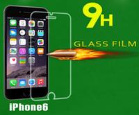 Pour Iphone 6 6s plus 5 / 5s écran en verre trempé note5 Protector Film plus de Galaxy S6 0.26mm protecteurs de verre traités